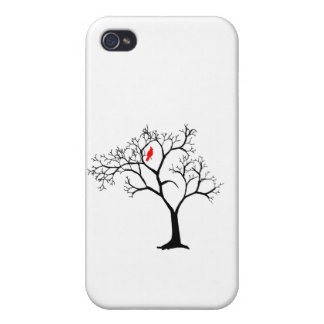 Cardinal Red Bird in Snowy Winter Tree iPhone 4/4S Case