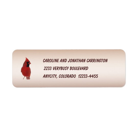 Cardinal Return Address Label