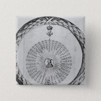 Cardinal Richelieu  as the centre of the sun 15 Cm Square Badge