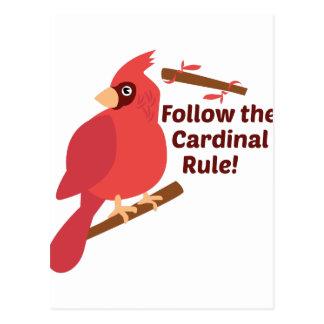 Cardinal Rule Postcard