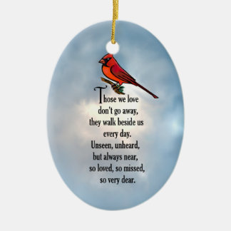 "Cardinal ""So Loved"" Poem Christmas Ornament"