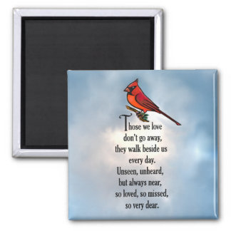 "Cardinal ""So Loved"" Poem Magnet"