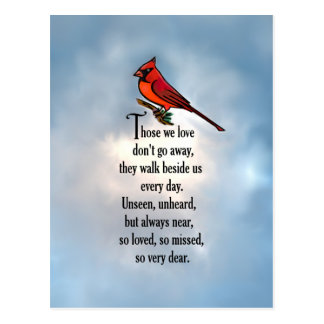 "Cardinal ""So Loved"" Poem Postcard"