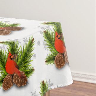 Cardinal songbird Christmas Holiday Tablecoth Tablecloth