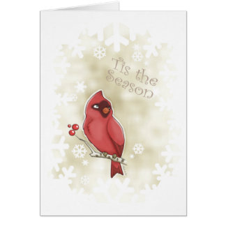 Cardinal Tis the Season Card