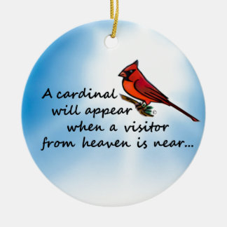 Cardinal, Visitor from Heaven Christmas Ornament