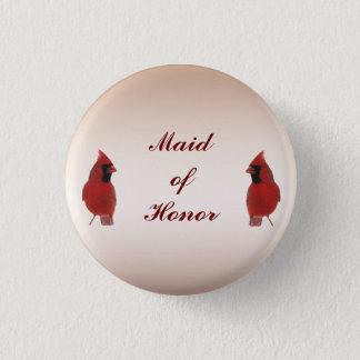 Cardinal Wedding Maid of Honor Pin