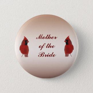 Cardinal Wedding Mother of the Bride Pin