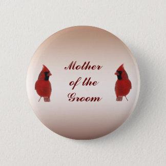 Cardinal Wedding Mother of the Groom Pin