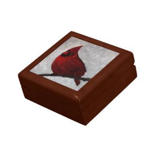 Cardinal Wooden Keepsake Box Small
