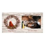 Cardinal Wreath Photo Card