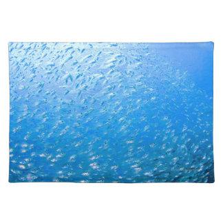 Cardinalfishes swimming underwater placemat