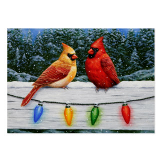 Cardinals and Christmas Lights Pack Of Chubby Business Cards