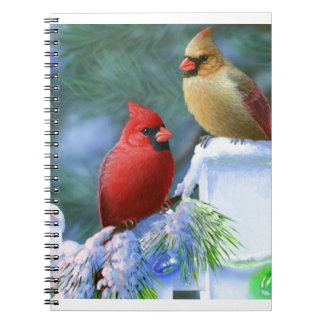 Cardinals and Christmas Lights Notebooks