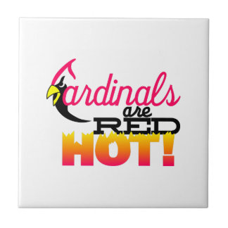 Cardinals are Red Hot Small Square Tile