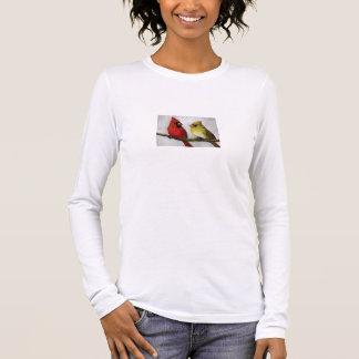 Cardinals Bird Art Ladies Shirt