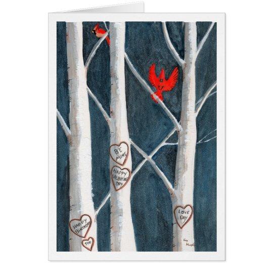 cardinals birthday valentine card