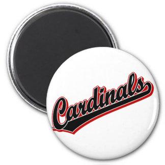 Cardinals in Black 6 Cm Round Magnet