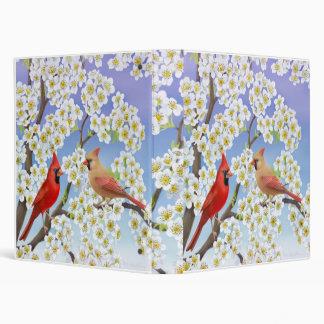 Cardinals in Flowering Tree Binder