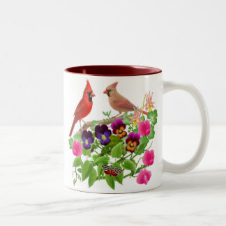 Cardinals in the Garden Mug