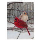 Cardinals in the Snow Holiday Card