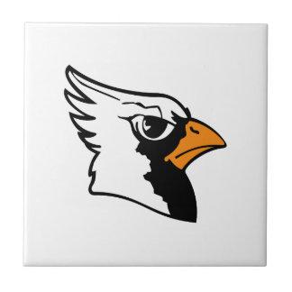 Cardinals Mascot Small Square Tile