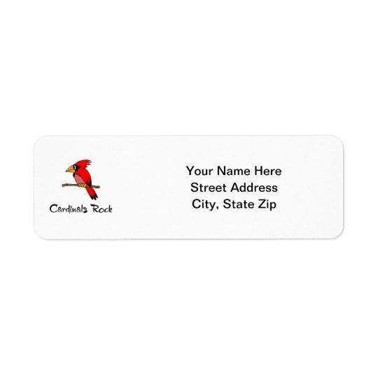 Cardinals Rock Return Address Label