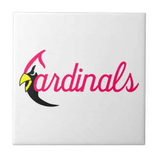 Cardinals Small Square Tile