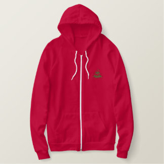Cardinals with tree embroidered hoodie