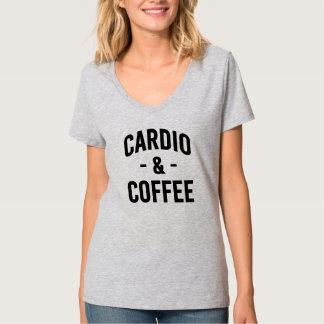 Cardio and Coffee funny women's shirt