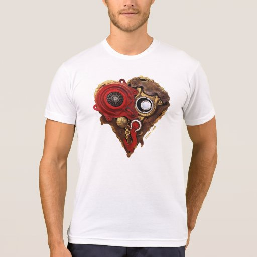 Cardio Art - Assembled Heart in Red and Gold I Shirt