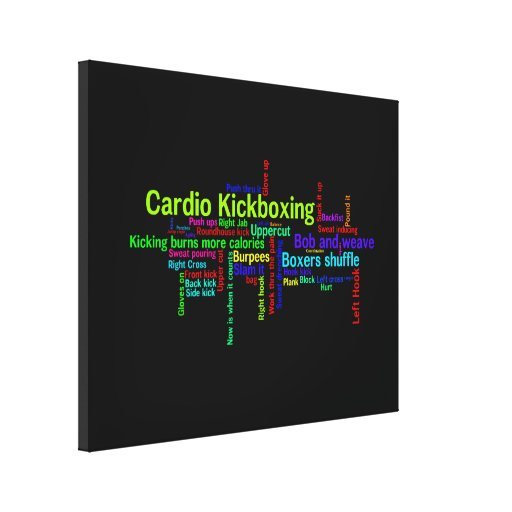 Cardio Kickboxing Word Cloud Gallery Wrapped Canvas