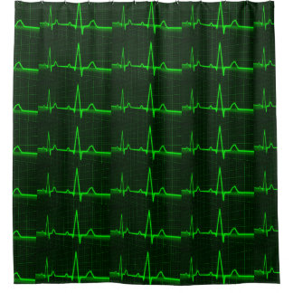 cardiogram ecg pattern for Shower Curtain