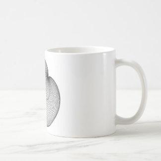 cardioide basic white mug