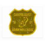 Cardiologist Drinking League Post Card