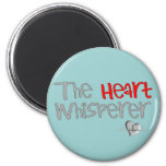 """Cardiologist Gifts """"The Heart Whisperer"""" 6 Cm Round Magnet"""