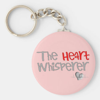 "Cardiologist Gifts ""The Heart Whisperer"" Basic Round Button Key Ring"