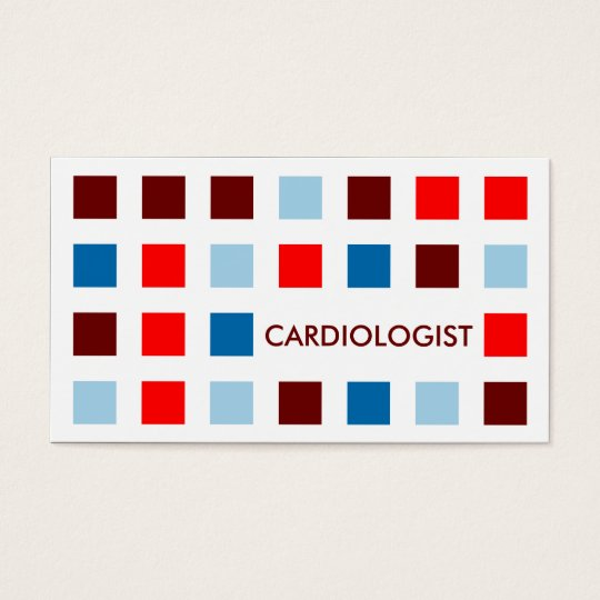 CARDIOLOGIST (mod squares) Business Card