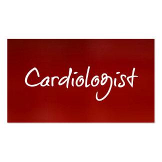Cardiologist Red Business Card