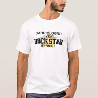 Cardiologist Rock Star by Night T-Shirt