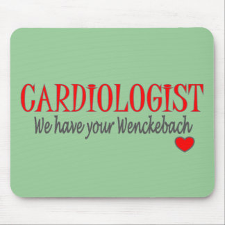 Cardiologist Wenckebach Funny T-shirt Gifts Mouse Mats