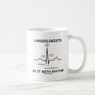 Cardiologists Do It With Rhythm (ECG/EKG) Basic White Mug