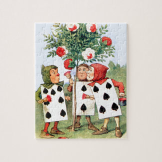 Cardmen Paint the Queen Roses in Wonderland Jigsaw Puzzle