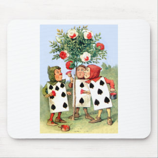 Cardmen Paint the Queen Roses in Wonderland Mouse Pad