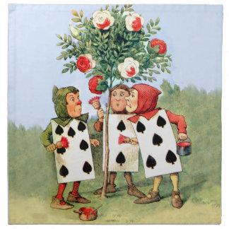 Cardmen Paint the Queen Roses in Wonderland Napkin