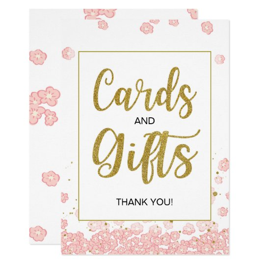 Cards and Gifts Bridal Shower Sign | Pink