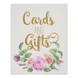 cards and gifts floral wedding pink rose sign poster