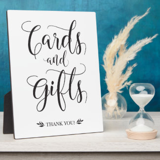 Cards and Gifts Modern Wedding Sign Plaque