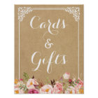 Cards and Gifts | Rustic Floral Kraft Wedding Sign