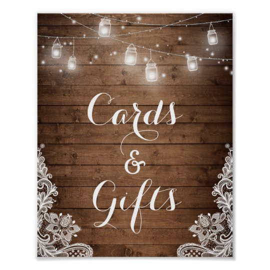 Cards and Gifts | Rustic Wood String Lights